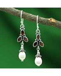 Garnet Chandelier Earrings Deals On Pearl And Garnet Chandelier Earrings India