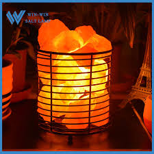 himalayan salt l basket himalayan salt iron basket l with crystal salt chunks in europe