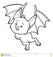 bat coloring stock illustration image 57523971