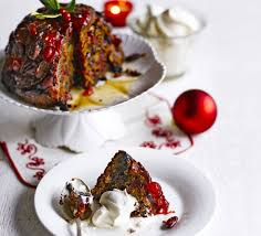 cherry pecan christmas pudding recipe bbc good food