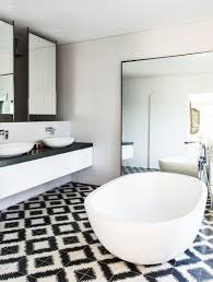 White Bathroom Floor Tile Ideas Black And White Bathroom Tile Home Design Ideas