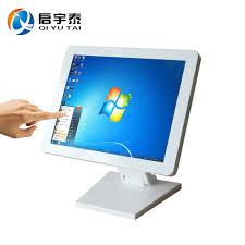 ecran tactile pc bureau 15 pouce résolution 1024x768 blanc boîtier métallique tout dans un
