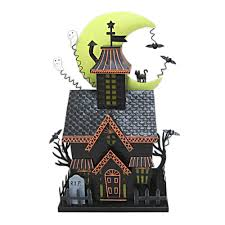 halloween together light up haunted house table decor