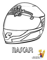 nascar coloring kasey kahne helmet at yescoloring cool super car