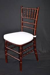 mahogany chiavari chair mahogany resin chiavari chair with ivory cushion superior party