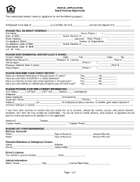 apartment rental application forms and templates fillable