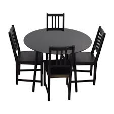Black And Wood Chairs 63 Off Expandable Glass And Wood Dining Set Tables