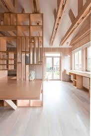 wood studio artist s studio by ruetemple is designed in a single wooden unit