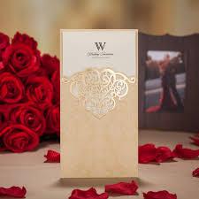 fancy indian wedding invitations chagne pocket wedding invitation card delicate chagne