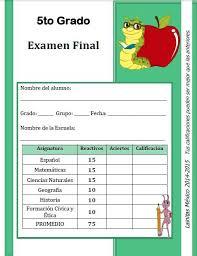 examen de 5 grado con respuestas examen final 14 15 lainitas zomaral14