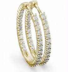 hoops earrings india buy hoop of 14k gold diamond earrings online best prices in