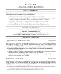 sample server resume 7 examples in word pdfserver resume