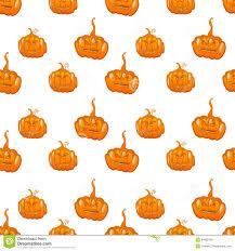 cute halloween pattern background halloween seamless pumpkin vector background stock vector image