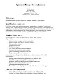 property manager resume property manager resume sle resumes employment objective