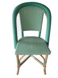 Turquoise Bistro Chair Wooden French Bistro Chairs With Green Seats X 2 French Loft