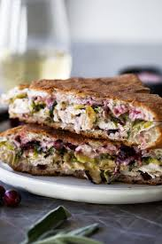 thanksgiving leftover panini with turkey brie shredded brussels