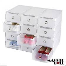 Plastic Storage Containers Melbourne - maggiedoll 20 x clear plastic see through drawer shoes storage