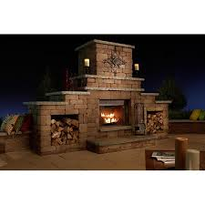 Where To Buy Outdoor Fireplace - grand stone outdoor wood burning fireplace kit