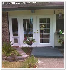 doggie door in glass door french patio doors with built in dog door renovations