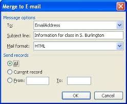office 2013 mail merge sending letters via email using the mail merge helper in ms word