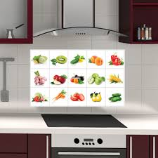 Tile Stickers For Kitchen Vegetable And Fruit Kitchen Wall Sticker Vegetable And Fruit