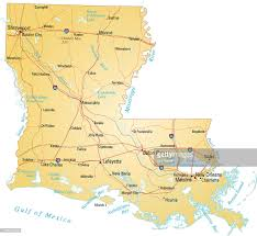Louisiana Highway Map by Map Of Louisiana Vector Art Getty Images