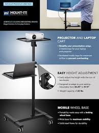 Lock Laptop To Desk by Amazon Com Mount It Mobile Projector Stand Height Adjustable
