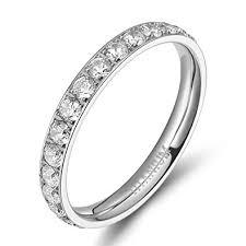 titanium engagement rings womens titanium eternity rings cubic zirconia wedding