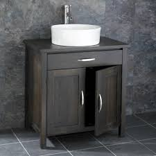 Oak WENGE Ohio  Door Cm Cabinet With Basin Milano - Bathroom basin and cabinet 2