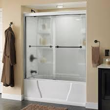 bathtubs lyndall 60 in x 58 1 8 in semi frameless sliding