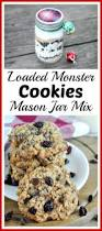 loaded monster christmas cookies mason jar mix recipe mason