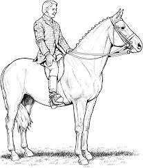 horse riding coloring pages at omeletta me