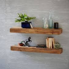wall shelves reclaimed wood floating shelf west elm