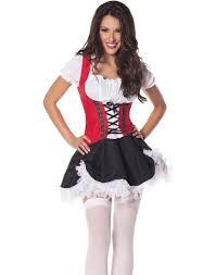 Beer Halloween Costumes Beer Maiden Red Black Oktoberfest Bar Wench Halloween Costume