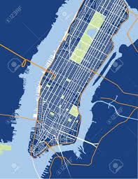 Maps New York City by New York City Lower And Mid Manhattan Vector Map Blue Royalty