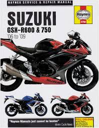 title suzuki gsx r600 and 750 service and repair manual 2006 to