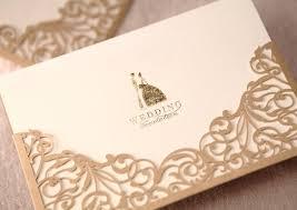 Plain Wedding Invitations Aliexpress Com Buy Exquisite Gold Laser Cut Wedding Invitations
