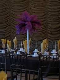 Feather Vase Centerpieces by Candi U0027s Floral Creations Feather Wedding Centerpiece