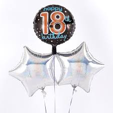 balloons for 18th birthday happy 18th birthday silver balloon bouquet inflated free delivery