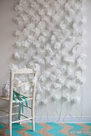 wedding backdrop tutorial diy paper napkin flower garland tutorial the elli