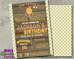 bonfire birthday invitation bonfire invitation camp in