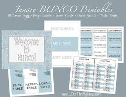 winter themed bunco printables our thrifty ideas