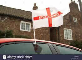 Car Window Flags England Flag Car Football Supporter Support Supporting Stock