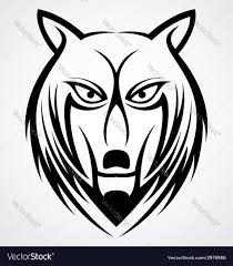 wolf face tattoo design royalty free vector image