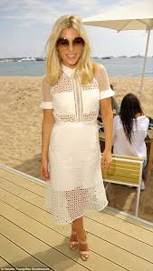 mollie king stuns in shirt dress as cash u0026 rocket event in cannes