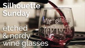 wine glass silhouette twinklefarts silhouette sunday etched u0026 nerdy wine glasses
