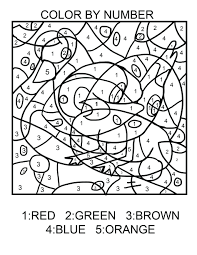 free printable colour by number addition color christmas coloring
