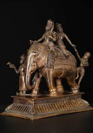 sold elephant statue with mahouts 8