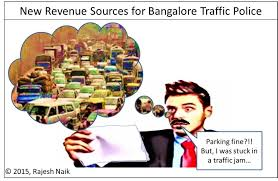 cartoon new source of revenue for bangalore traffic police