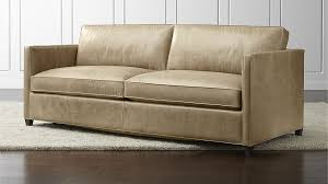 Leather Sofa Color Colored Leather Sofas Dryden Leather Sofa Crate And Barrel